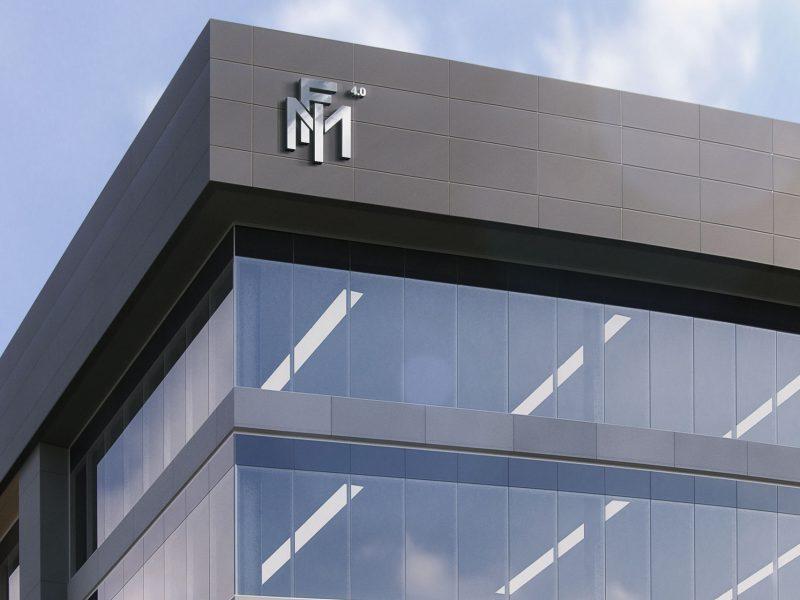 FMI logo su palazzo